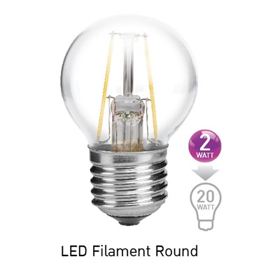 LED Filament E27 Round EVE