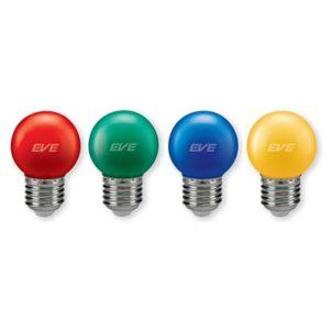 หลอด LED สี เหลือง ฟ้า แดง เขียว EVE
