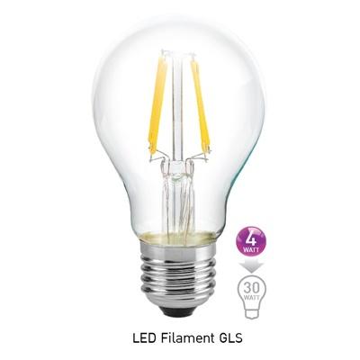 หลอด LED E27 4w ฟิลาเมนต์ GLS EVE