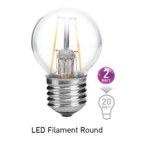 หลอด LED E27 2w ฟิลาเมนต์ EVE