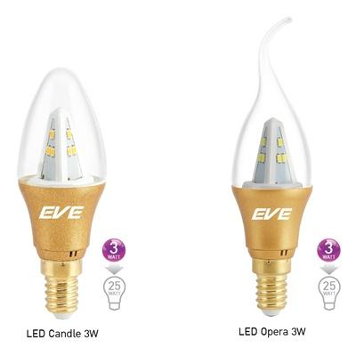 หลอด LED E14 3w Gen2 EVE