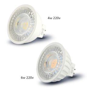หลอดไฟ LED MR16 220v 4w-6w EVE