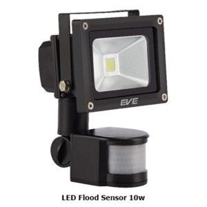 โคมไฟ LED Flood Sensor 10w จับความเคลื่อนไหว EVE