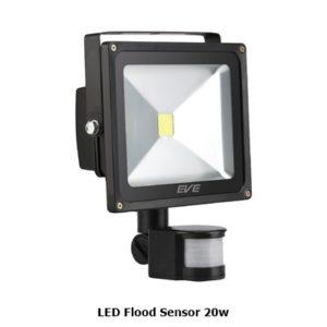 โคมไฟ LED Flood Sensor 20w จับความเคลื่อนไหว EVE
