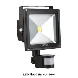 โคมไฟ LED Flood Sensor 30w จับความเคลื่อนไหว EVE